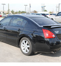 nissan maxima 2006 black sedan 3 5 sl gasoline 6 cylinders front wheel drive automatic 77090