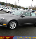 ford fusion 2012 gray sedan sel gasoline 4 cylinders front wheel drive 6 speed automatic 98032