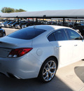 buick regal 2012 white sedan gs gasoline 4 cylinders front wheel drive automatic 76087