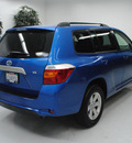 toyota highlander 2008 blue suv gasoline 6 cylinders front wheel drive automatic 91731
