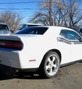 dodge challenger 2012 white coupe r t classic gasoline 8 cylinders rear wheel drive 6 speed manual 80301