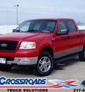 ford f 150 2005 red xlt 8 cylinders 4 wheel drive automatic 62708