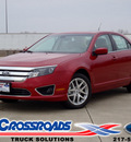 ford fusion 2012 red sedan sel flex fuel 6 cylinders front wheel drive automatic 62708