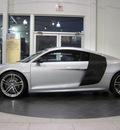 audi r8 2011 silver coupe 5 2 quattro gasoline 10 cylinders all whee drive automatic 46410