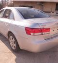 hyundai sonata 2007 silver sedan gls gasoline 4 cylinders front wheel drive automatic 28217