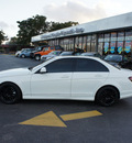 mercedes benz c class 2009 white sedan c300 gasoline 6 cylinders rear wheel drive automatic 33021
