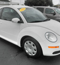 volkswagen new beetle 2010 white hatchback pzev gasoline 5 cylinders front wheel drive automatic 34474