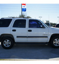 chevrolet tahoe 2003 white suv ls flex fuel 8 cylinders rear wheel drive automatic 77090