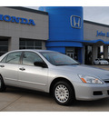 honda accord 2007 silver sedan value package gasoline 4 cylinders front wheel drive automatic 77065
