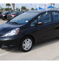 honda fit 2009 black hatchback gasoline 4 cylinders front wheel drive automatic 77065