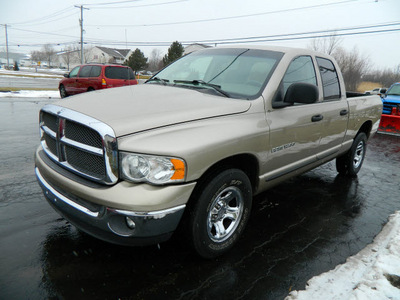 dodge ram 1500 2002 tan pickup truck slt gasoline 8 cylinders rear wheel drive automatic 14224
