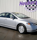 honda civic 2007 alabaster silver sedan hybrid hybrid 4 cylinders front wheel drive automatic 80905