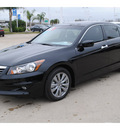 honda accord 2012 black sedan ex l v6 gasoline 6 cylinders front wheel drive automatic 77065