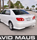 toyota corolla 2007 white sedan s gasoline 4 cylinders front wheel drive automatic 32771