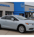 honda civic 2012 lt  blue coupe ex l gasoline 4 cylinders front wheel drive automatic 77065