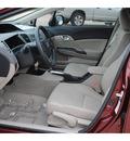 honda civic 2012 dk  red sedan ex gasoline 4 cylinders front wheel drive automatic 77065
