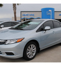 honda civic 2012 lt  blue sedan ex l gasoline 4 cylinders front wheel drive automatic 77065