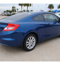 honda civic 2012 blue coupe ex w navi gasoline 4 cylinders front wheel drive automatic 77065