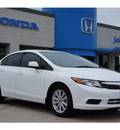 honda civic 2012 white sedan ex l w navi gasoline 4 cylinders front wheel drive automatic 77065
