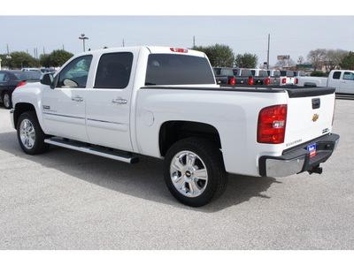 chevrolet silverado 1500 2012 white lt flex fuel 8 cylinders 2 wheel drive 6 spd auto,elec cntlled texas ed te 77090
