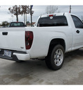 chevrolet colorado 2009 white work truck gasoline 4 cylinders 2 wheel drive manual 77090