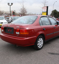 honda civic 1998 red sedan lx gasoline 4 cylinders front wheel drive automatic 80229