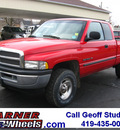 dodge ram pickup 1500 2000 red slt 4x4 gasoline v8 4 wheel drive automatic with overdrive 45840