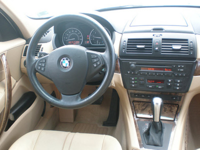 bmw x3 2007 white suv gasoline 6 cylinders all whee drive automatic 13502
