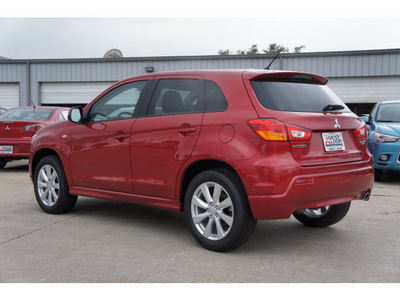 mitsubishi outlander sport 2012 dk  red suv se gasoline 4 cylinders front wheel drive automatic 78238