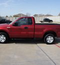 ford f 150 2008 red pickup truck xl gasoline 6 cylinders 2 wheel drive 5 speed manual 76108