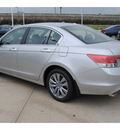 honda accord 2012 silver sedan ex l v6 gasoline 6 cylinders front wheel drive automatic 77065