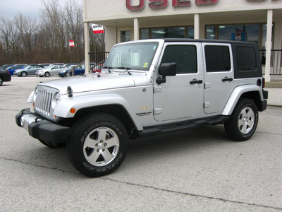 jeep wrangler unlimited 2009 silver suv 4x4 sahara gasoline 6 cylinders 4 wheel drive automatic 45840