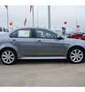 mitsubishi lancer 2012 lt  gray sedan gt gasoline 4 cylinders front wheel drive automatic 78238