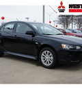mitsubishi lancer sportback 2012 black hatchback es gasoline 4 cylinders front wheel drive automatic 78238