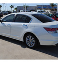 honda accord 2011 white sedan ex l v6 gasoline 6 cylinders front wheel drive automatic 77065