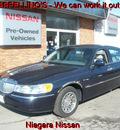 lincoln town car 2002 blue sedan signature gasoline 8 cylinders rear wheel drive automatic 14094