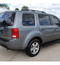 honda pilot 2009 gray suv ex l gasoline 6 cylinders front wheel drive 5 speed automatic 77065