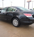 honda accord 2010 black sedan lx 4 cylinders automatic 75228