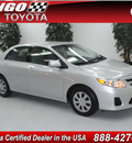 toyota corolla 2011 silver sedan le 4 cylinders automatic 91731