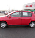 nissan versa 2010 red hatchback gasoline 4 cylinders front wheel drive automatic 19153