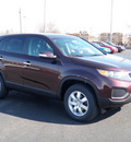 kia sorento 2012 dark cherry lx gasoline 4 cylinders front wheel drive automatic 19153