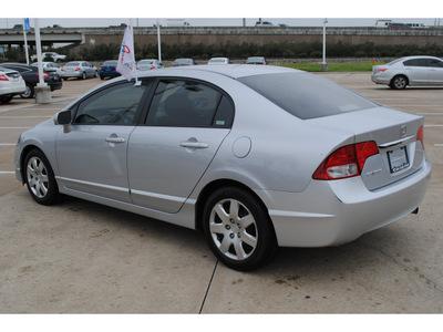 honda civic 2009 silver sedan lx gasoline 4 cylinders front wheel drive automatic 77065