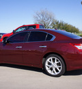 nissan maxima 2009 dk  red sedan 3 5 sv gasoline 6 cylinders front wheel drive automatic 76018