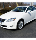 lexus is 250 2009 white sedan nav gasoline 6 cylinders all whee drive automatic 07755