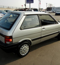 subaru justy 1989 silver hatchback gl gasoline 3 cylinders front wheel drive automatic 55420
