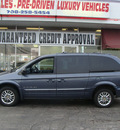 chrysler town and country 2001 blue van limited gasoline 6 cylinders front wheel drive automatic 60411