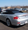 bmw 6 series 2006 silver 650i gasoline 8 cylinders rear wheel drive automatic 60411