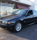 bmw 5 series 2002 black sedan 530i gasoline 6 cylinders rear wheel drive automatic 60411