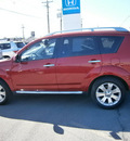 mitsubishi outlander 2009 red suv se gasoline 4 cylinders all whee drive automatic 13502