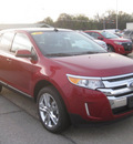 ford edge 2013 red suv sel gasoline 6 cylinders front wheel drive 6 speed automatic 62863